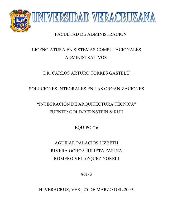 FACULTAD DE ADMINISTRACIÓN    LICENCIATURA EN SISTEMAS COMPUTACIONALES              ADMINISTRATIVOS        DR. CARLOS ARTU...