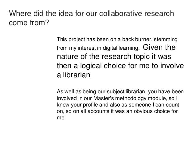 Did the joint research process 'work'?  Absolutely. From compiling the survey questions to  writing the final report our c...