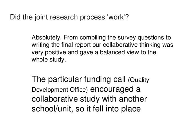 How did it differ to collaborative research work you've done  with non librarian colleagues?  Given the nature of the topi...