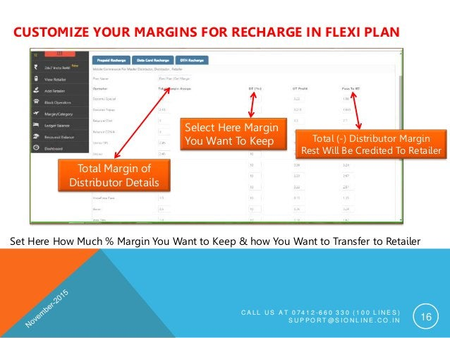 CUSTOMIZE YOUR MARGINS FOR RECHARGE IN FLEXI PLAN C A L L U S A T 0 7 4 1 2 - 6 6 0 3 3 0 ( 1 0 0 L I N E S ) S U P P O R ...