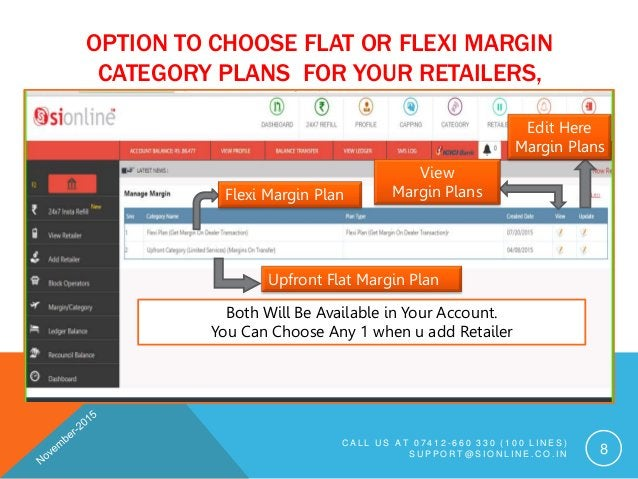 OPTION TO CHOOSE FLAT OR FLEXI MARGIN CATEGORY PLANS FOR YOUR RETAILERS, C A L L U S A T 0 7 4 1 2 - 6 6 0 3 3 0 ( 1 0 0 L...