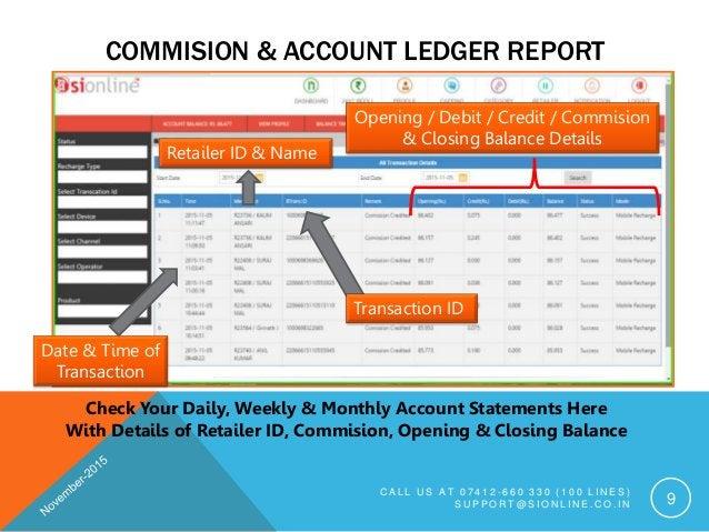 COMMISION & ACCOUNT LEDGER REPORT C A L L U S A T 0 7 4 1 2 - 6 6 0 3 3 0 ( 1 0 0 L I N E S ) S U P P O R T @ S I O N L I ...