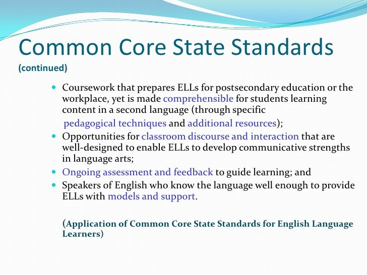 Common Core State StandardsWhat Is Not Covered by the StandardsThe Standards set grade-specific standards but do not defin...