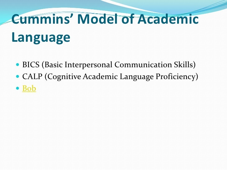 Cummins' Model of AcademicLanguage                             Cognitively Undemanding  A.                                ...