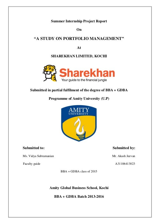 organisational study on sharekhan