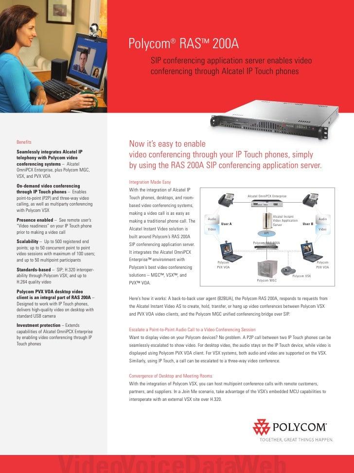 Polycom® RAS™ 200A                                                           SIP conferencing application server enables v...