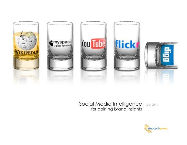Social Media Intelligence        Feb 2011    for gaining brand insights