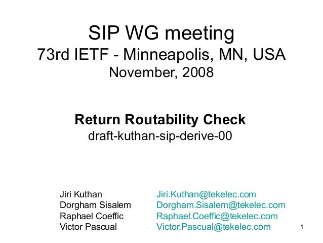 Ietf 73 sip derive for Sip houses usa