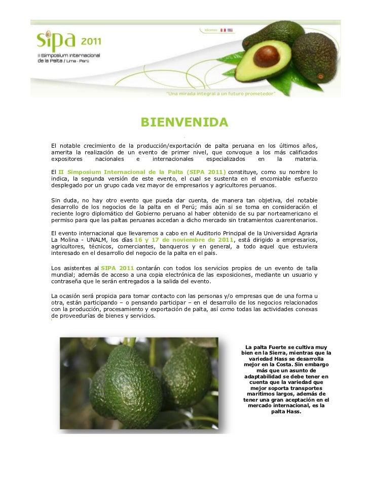 -440055-47942500<br />BIENVENIDA<br />El notable crecimiento de la producción/exportación de palta peruana en los últimos ...