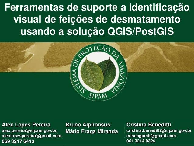 Ferramentas de suporte a identificação visual de feições de desmatamento usando a solução QGIS/PostGIS Alex Lopes Pereira ...
