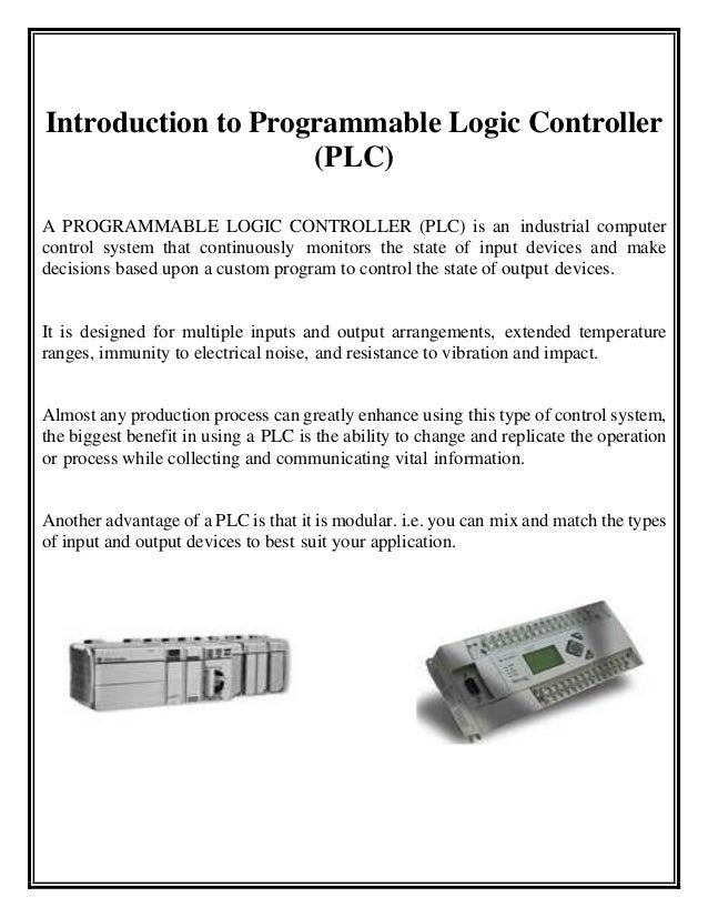 Summer internship report for plc programming of traffic light through 9 introduction to programmable logic ccuart Gallery