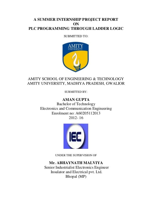 Industrial Training Report For On PLC Programming of Traffic light th…