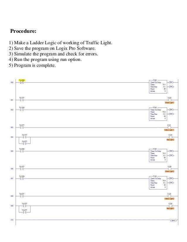 industrial training report for on plc programming of traffic light th rh slideshare net traffic light ladder logic example ladder diagram for traffic light