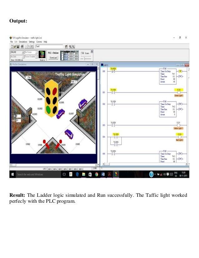 industrial training report for on plc programming of traffic light through ladder logic 35 638?cb\=1448795231 logixpro traffic light ladder diagram wiring diagram schema
