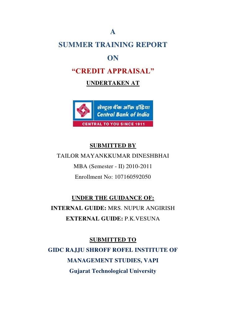 Credit appraisal at ce...