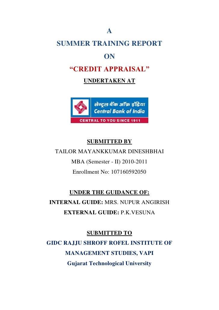 Credit appraisal of home loan
