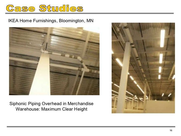 Full bore siphonic roof drains overview by jay r smith for Ikea bloomington minnesota