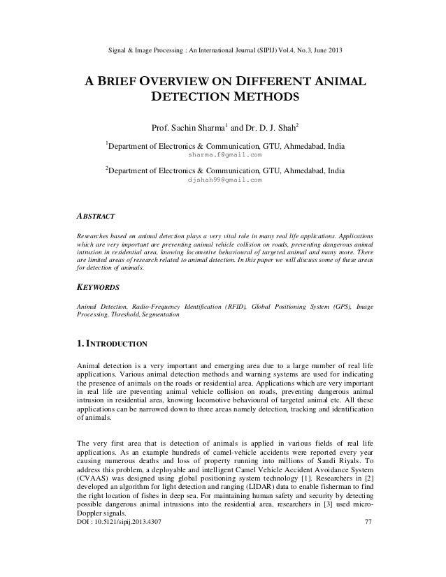 Signal & Image Processing : An International Journal (SIPIJ) Vol.4, No.3, June 2013 DOI : 10.5121/sipij.2013.4307 77 A BRI...