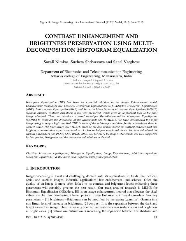 Signal & Image Processing : An International Journal (SIPIJ) Vol.4, No.3, June 2013 DOI : 10.5121/sipij.2013.4308 83 CONTR...