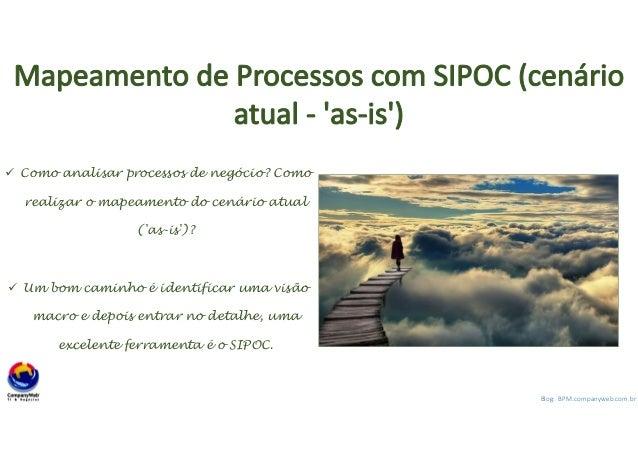 1 Blog: BPM.companyweb.com.br Mapeamento de Processos com SIPOC (cenário atual - 'as-is') Como analisar processos de negóc...