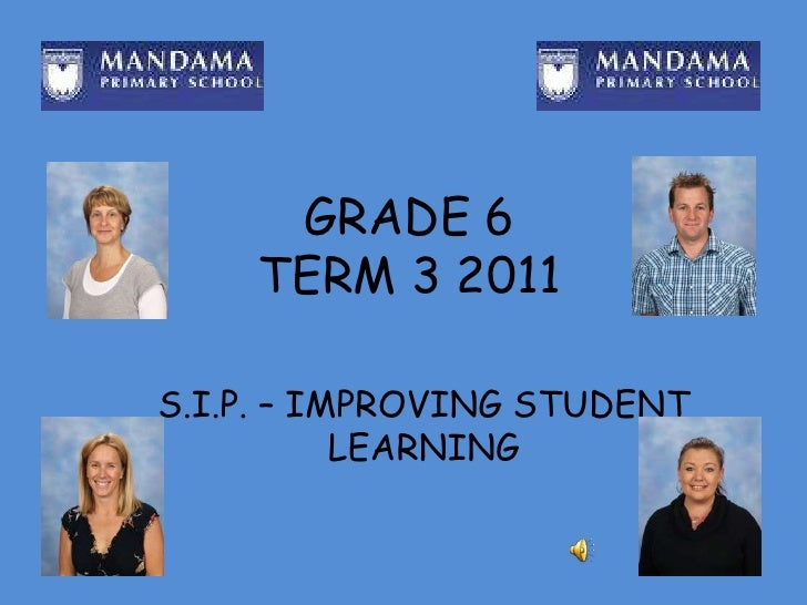 GRADE 6 TERM 3 2011<br />S.I.P. – IMPROVING STUDENT LEARNING<br />
