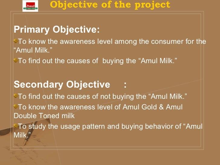 summer internship project on amul