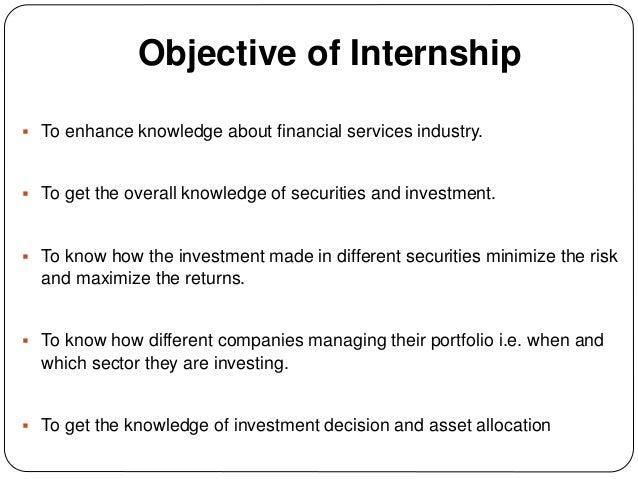 Internship presentation on Portfolio Management