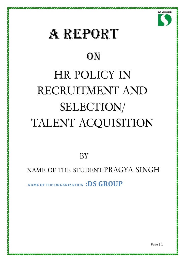 HR management assignment essay on: Recruitment and selection approach