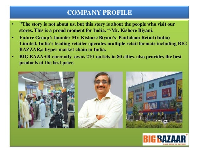 consumer buying behavior at big bazaar Hypothesis testing and consumer behavior: if it works, don't mess with it (buying inertia) and preventing the exposure to disconfirming evidence.