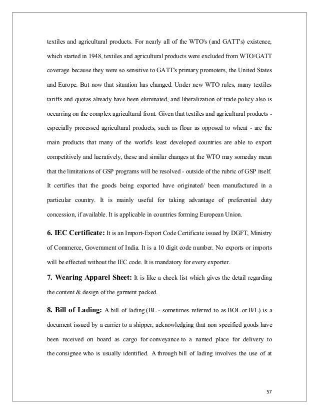 Export procedure documentation 57 textiles publicscrutiny Choice Image