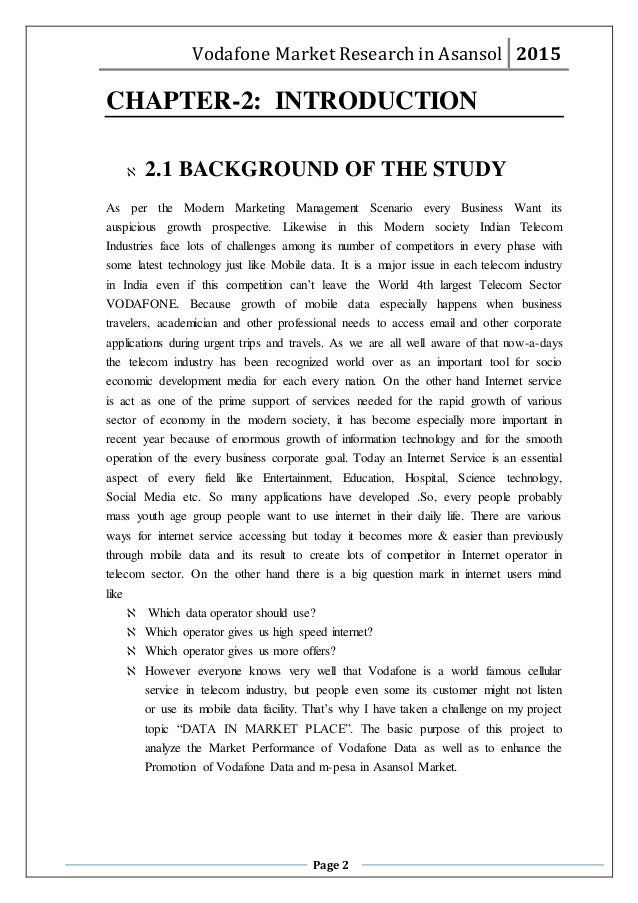 vodacom marketing research paper essay Marketing research paper 1 1 i introduction with the flourishing recognition that store design is one of the restaurants' most important concerns, store designing has emerged as top management priority in most restaurant businesses nowadays.
