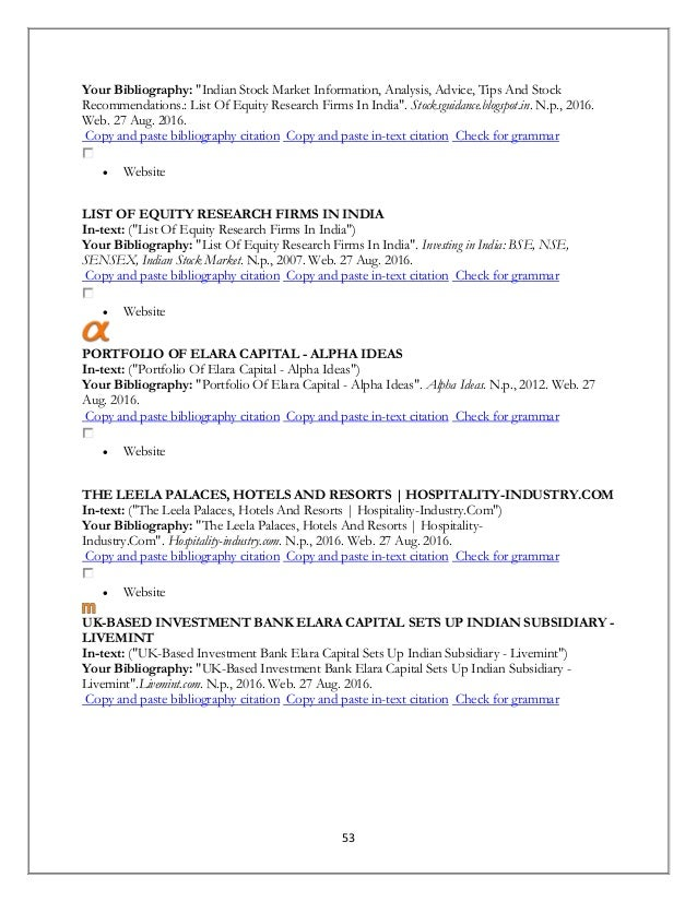 bibliography of hotel industry in india Bibliography many competitive industries and organisations are very difficult to  penetrate, despite all the intelligence techniques that may be available to get.