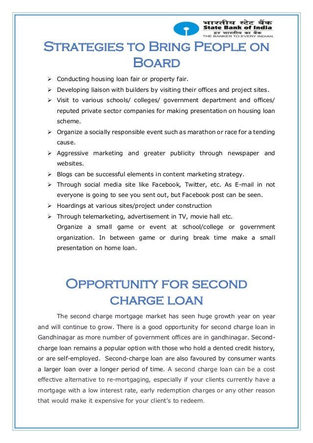 Project report on home loan marketing