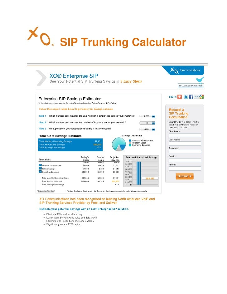 SIP Trunking Calculator