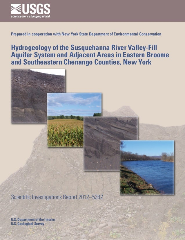 Prepared in cooperation with New York State Department of Environmental ConservationHydrogeology of the Susquehanna River ...