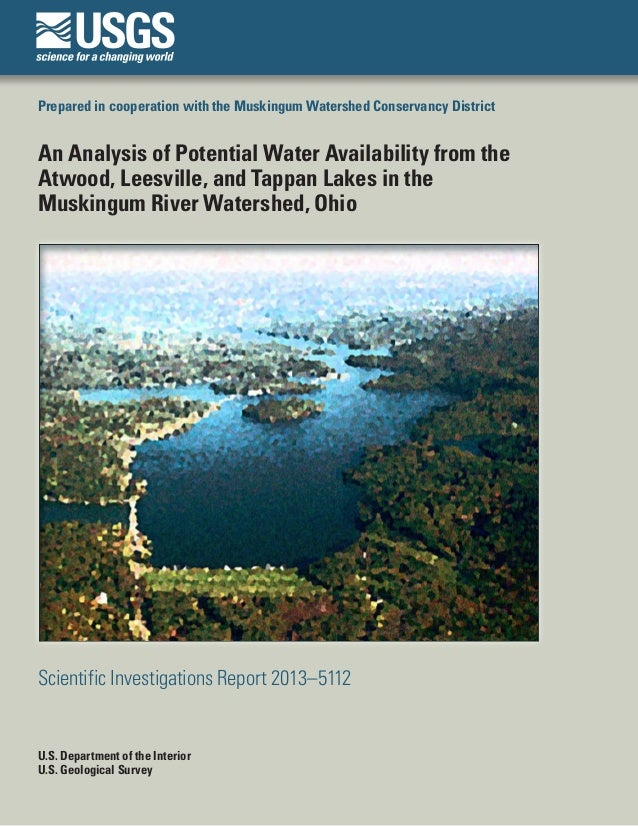Prepared in cooperation with the Muskingum Watershed Conservancy District An Analysis of Potential Water Availability from...