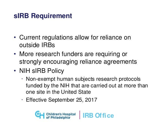 Single irb review of clinical research irb platinumwayz