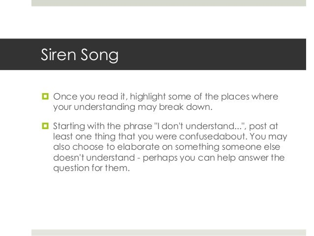 """the message of the siren song by margaret atwood essay New topic siren song poem analysis siren  siren song"""" and """"dover beach"""" margaret atwood's """"siren  i immediately knew that the message of the song is."""