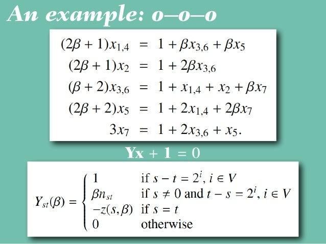 An example: o–o–o