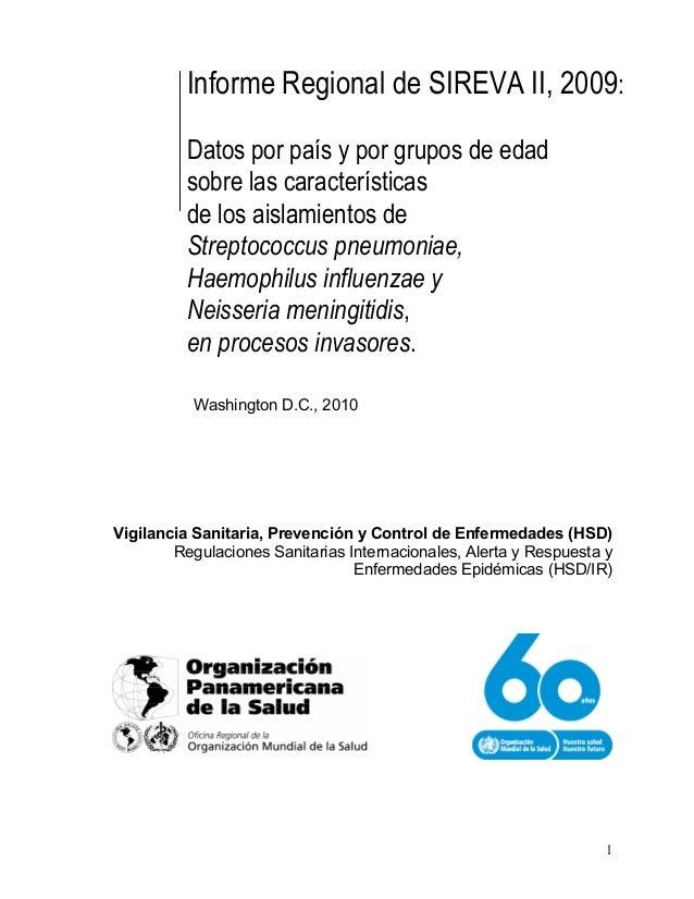 1 Vigilancia Sanitaria, Prevención y Control de Enfermedades (HSD) Regulaciones Sanitarias Internacionales, Alerta y Respu...