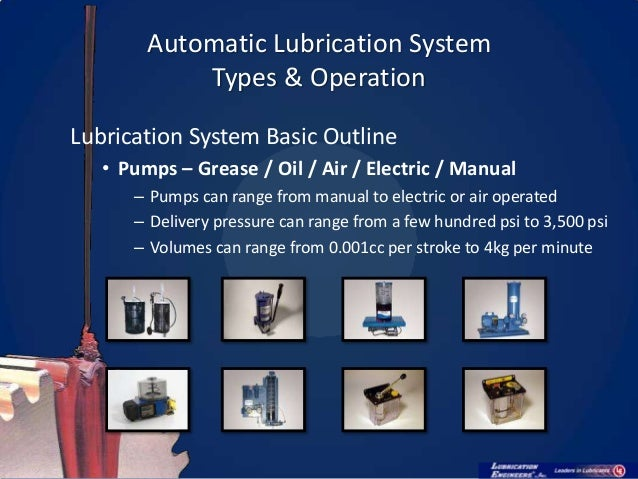 Automatic Lubrication Systems  U0026 Their Maintenance V1