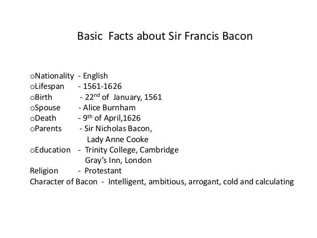 francis bacon essay of studies summary Free essays on francis bacon of ambition summary media studies seemed appropriate essays francis bacon bacon, francis.