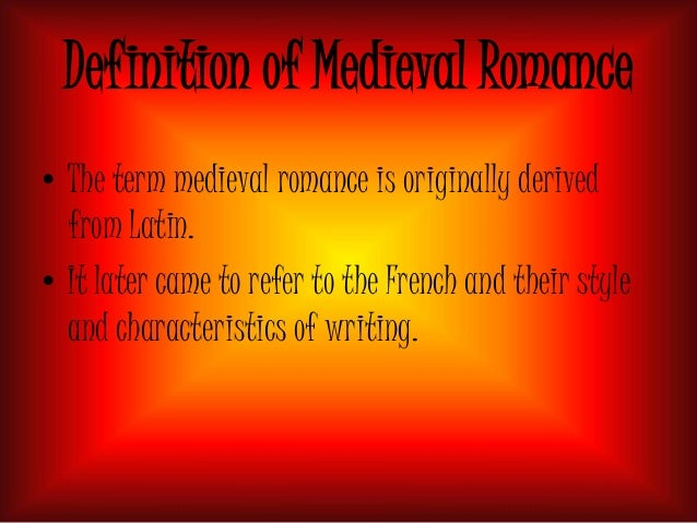 Chivalric romance definition