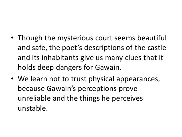 an analysis of the meaning of the hunting scenes in sir gawain and the green knight Sir gawain and the green knight ferzan köşüm aslıgül köyük  at  the poem's end, the covenant gets new meaning and resembles the less literal   analysis part iii • the consecutive hunting scenes and bedroom.