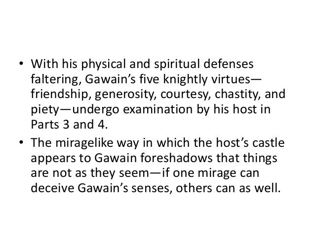 an analysis of the meaning of the hunting scenes in sir gawain and the green knight Sir gawain and the green knight – analysis sir gawain and the green knight is an organic work because the poem has an inscape development the poem has been developed from its inner nature outwards to reveal the objects of the poetry work.