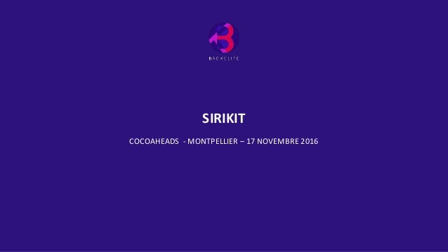 SIRIKIT COCOAHEADS - MONTPELLIER – 17 NOVEMBRE 2016