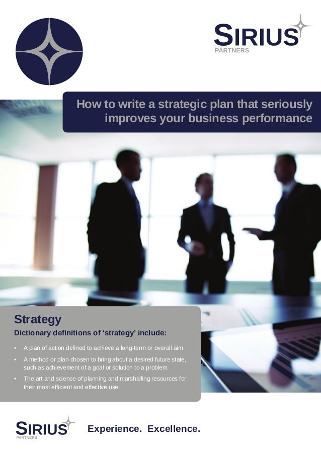how to write a strategic plan for education