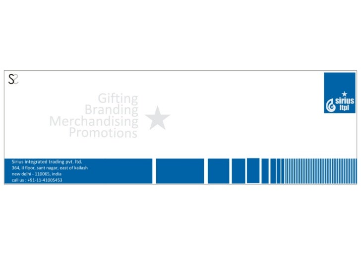 Sirius  gifting catalogue ( Best gifting Ideas 2011 )