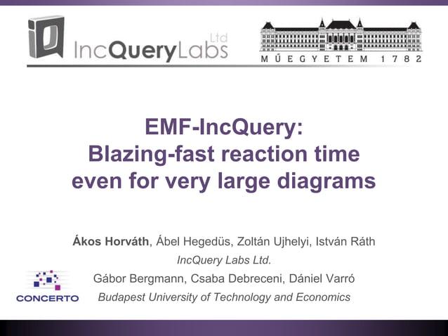 EMF-IncQuery: Blazing-fast reaction time even for very large diagrams Ákos Horváth, Ábel Hegedüs, Zoltán Ujhelyi, István R...