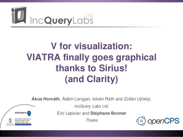 V for visualization: VIATRA finally goes graphical thanks to Sirius! (and Clarity) Ákos Horváth, Ádám Lengyel, István Ráth...